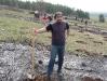 Залесяване на гората в Сливница - април 2009